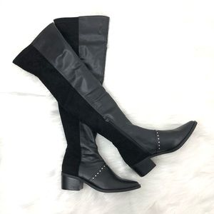 Report Zaria Black Over The Knee Boots Size 8 NWT